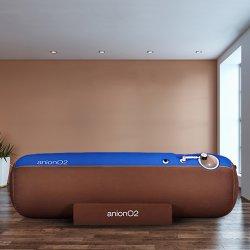 画像1: 【酸素カプセル】anionO2【1.23気圧】ソフト一体型・家庭用・ブルー&ブラウン