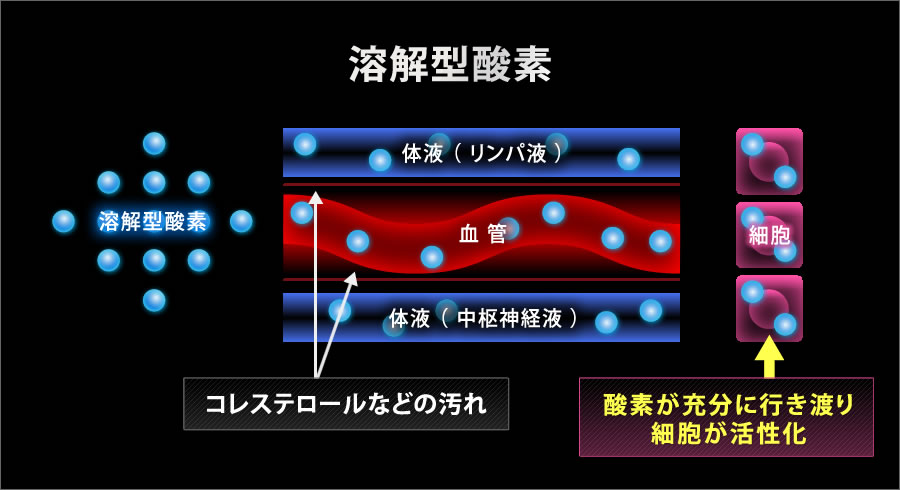 溶解型酸素説明イラスト
